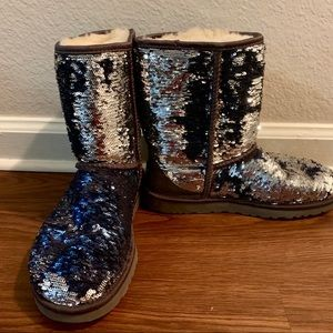 Sequin blue and silver Uggs 🧜🏼‍♀️💙
